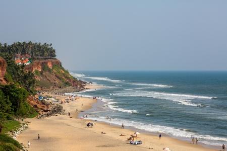 Varkala beach view. Kerala. India. Banque d'images