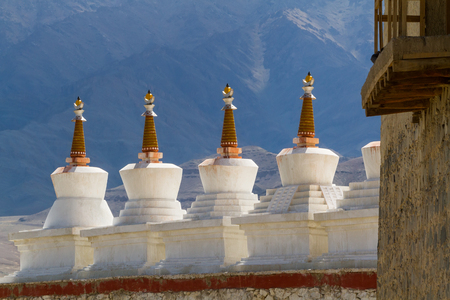 Gompa near a Buddhist monastery. Ladakh province. India photo