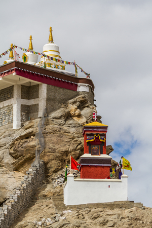 gompa: Gompa near a Buddhist monastery. Ladakh province. India Stock Photo