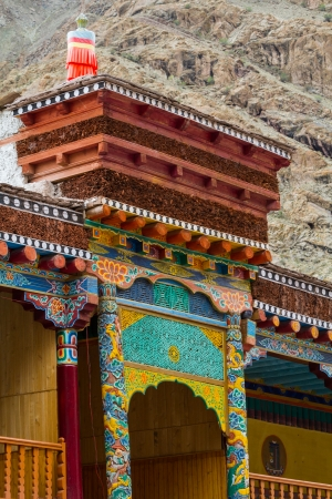 The picturesque Buddhist temple in the province of Ladakh in the Indian Himalayas photo