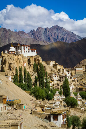 gompa: Indian monastery Lamayuru in the province of Ladakh. Indian Himalayas Stock Photo