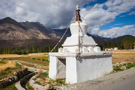 gompa: Gompa in the Indian Himalayas. Ladakh province. Stock Photo