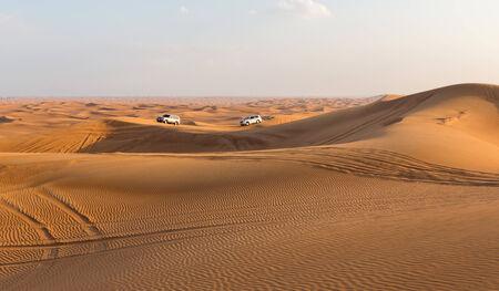 DUBAI, UAE-JANUARY 20: Jeep safari, 20, 2014 in Dubai, UAE. Jeep safari in the Arab desert.