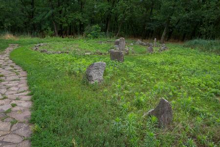 slavonic: Slavonic pagan sanctuary on the island of Khortytsya in Ukraine