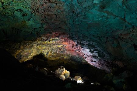 Inside the Volcano - Thrihnukagigur Magma Chamber. Iceland.