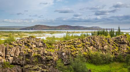 Thingvellir National Park rift valley. Iceland. photo