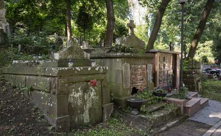 crypt: Crypt on grave in the old cemetery Editorial