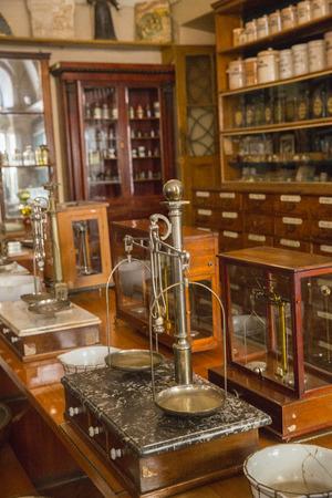 Old pharmacy in centre of Lviv.