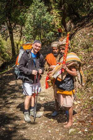 sadhu: Sadhu on the track to the Annapurna Base Camp