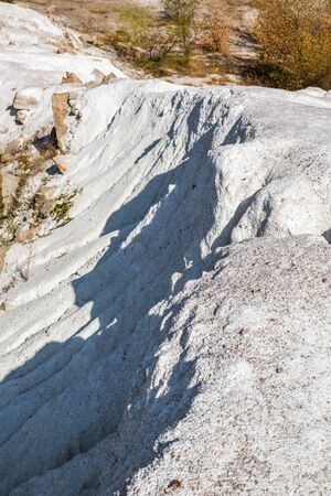rare rocks: Mountain of white limestone in southern Ukraine Stock Photo