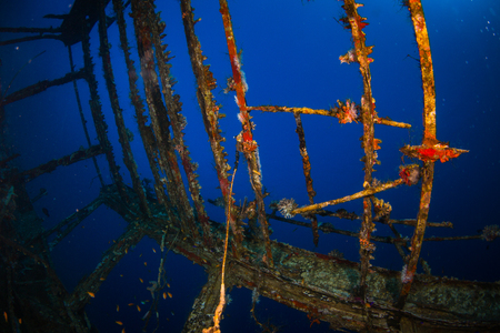wrack: Glassboat wreck on the reaf near Sharm El Sheikh