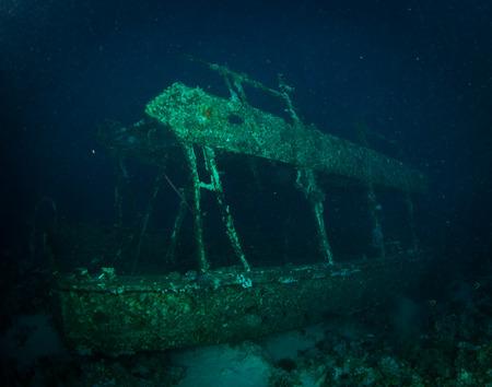sharm el sheikh: Glassboat wreck on the reaf near Sharm El Sheikh