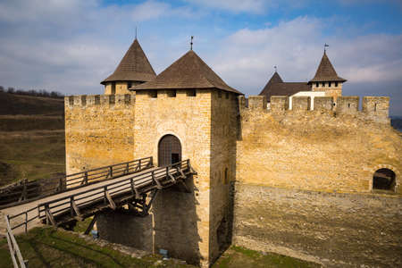 loophole: Khotyn Fortress on the banks of the Dniester River in Ukraine Editorial