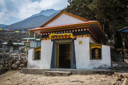 orison: Praying wheels on the way to the Everest Base Camp