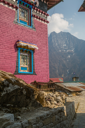 orison: Windows in the Tengboche temple