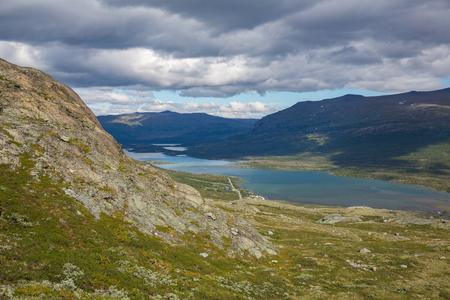 Mountain lake in Norway Jotunheimen National Park