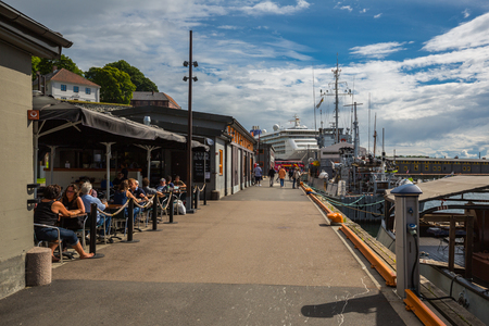 oslo: OSLO, NORWAY-JULY 5: Seaport July 5, 2016 in Oslo, Norway. Seaport in Oslo.