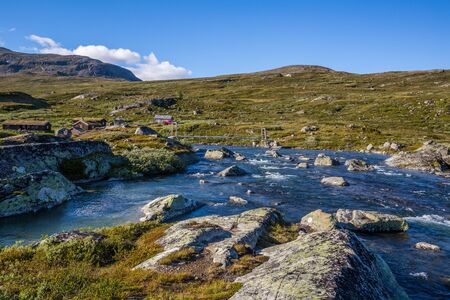 The landscape of the Norwegian national park Jotunheimen Stock Photo