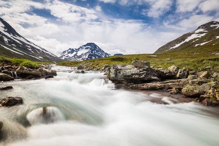 The landscape of the Norwegian national park Jotunheimen Stock Photo
