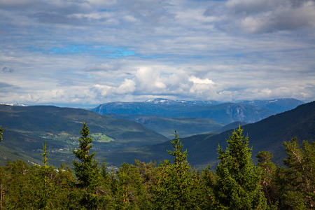 The view from the top of the Sogndal hill