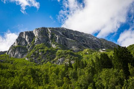 Norwegian Folgefonna National Park in summer