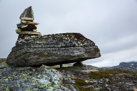 The landscapes of the Norwegian mountains on track to Trolltunga