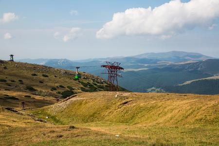 Summer panorama of Montenegrin mountain range