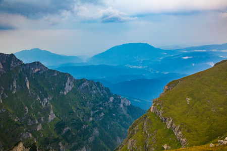 panoramas: Summer panorama of Montenegrin mountain range