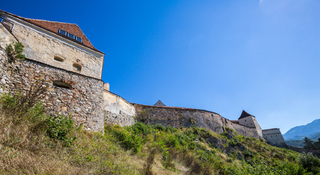 Romanian Rasnov Fortress at the summer