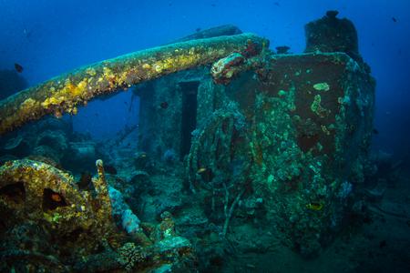 to drown: British buque de transporte militar hundido durante la Segunda Guerra Mundial Foto de archivo