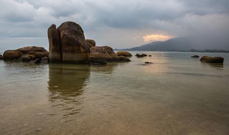 The coast of Koh Samui after tropical rain Stock Photo