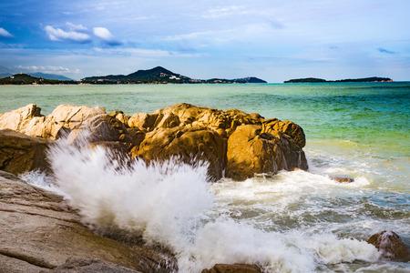 Waves on the tropical island Samui