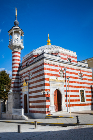arcades: Turkish Mosque in Istanbul at spring Stock Photo