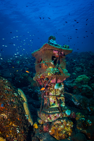 Underwater temple on Bali. Indonesia Banque d'images