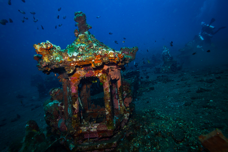 Underwater temple on Bali. Indonesia Imagens