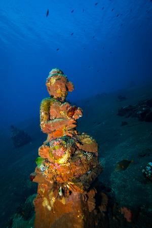 Underwater temple on Bali. Indonesia Stock Photo