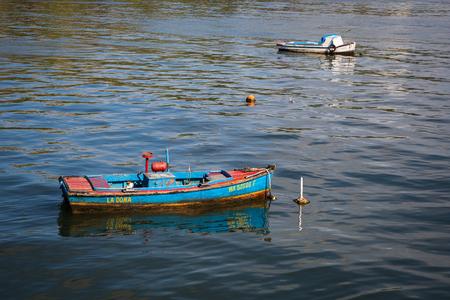 HABANA, CUBA-JANUARY 12: Fishing boat on January 12, 2018 in Habana, Cuba. Old boat in Habana Editorial