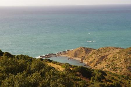 Tunesië Bay vermoeide zeeman Stockfoto