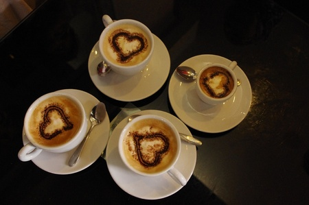 Tunesië, Lange weg en over een wonder Een Kopje koffie Stockfoto