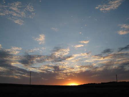 Sunset Russian Chernozem region