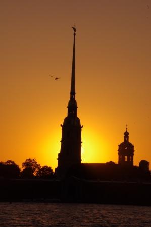 Beautiful white nights in Saint-Petersburg