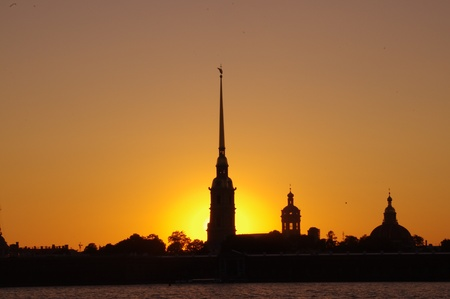 Beautiful white nights in Saint-Petersburg