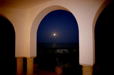 Lunar path of the sea  Stock Photo