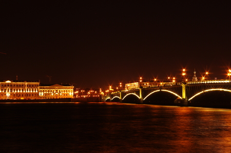 Beautiful  nights in Saint-Petersburg
