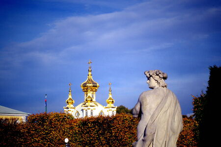 St  Petersburg, Peterhof, fountains Stock Photo