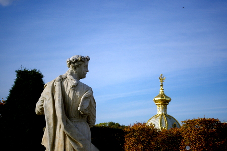St  Petersburg, Peterhof, fountains Stock Photo