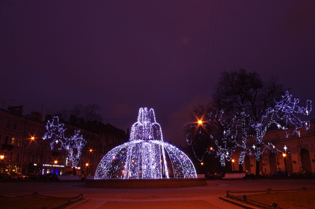 st: Christmas decoration of St. Petersburg Stock Photo