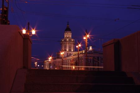 Russia, Saint Petersburg, Vasilievsky island, Christmas tree, New year