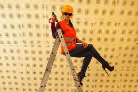 girl-Builder Stock Photo