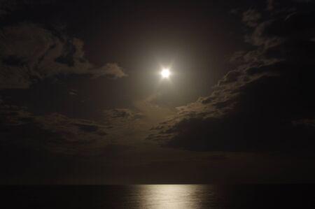Zee Night in Tunesië Stockfoto